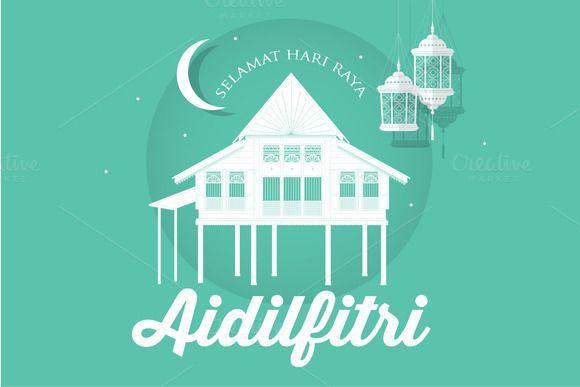 Hari Raya Poster Bermanfaat Hari Raya Kampung Template Vector Creativework Illustrations