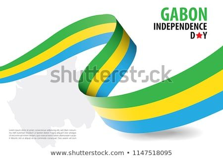 gabon independence day background template in white background