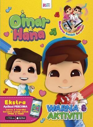 Kertas Mewarna Omar Hana Bermanfaat Buku Prima Kidsprima Omar Hana Warna Aktiviti Buku 3d Ar