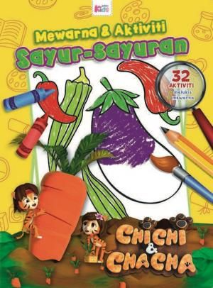 chichi chacha warna aktiviti sayur sayuran
