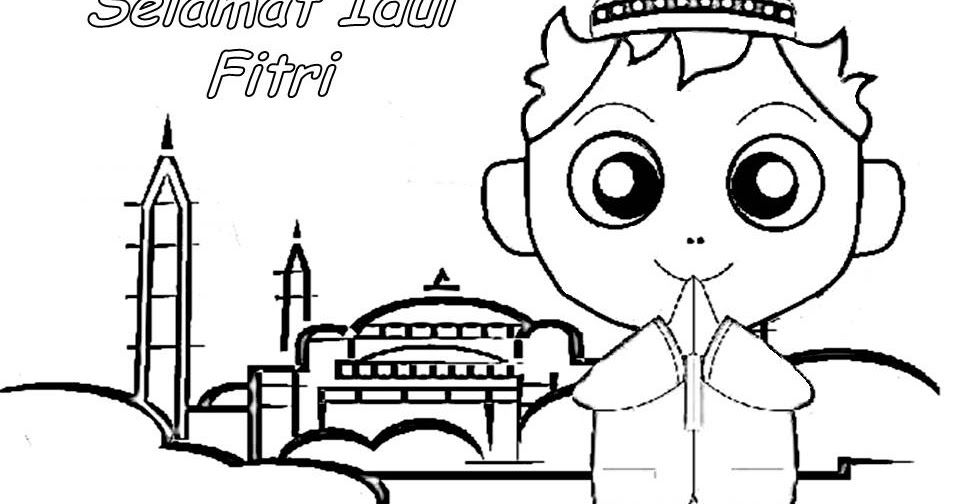 Kertas Mewarna Omar Hana Hebat Gambar Mewarna Hari Raya Idul Adha O Warna