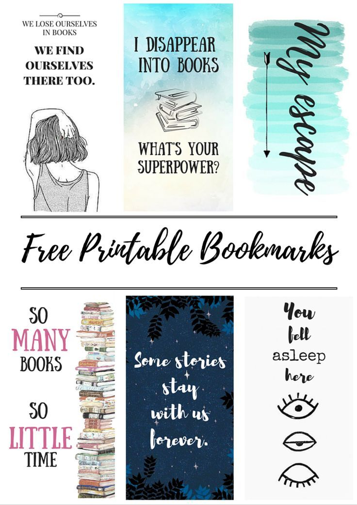 Kertas Poster Baik Free Printable Bookmarks Crafty Pinterest Bookmarks Free