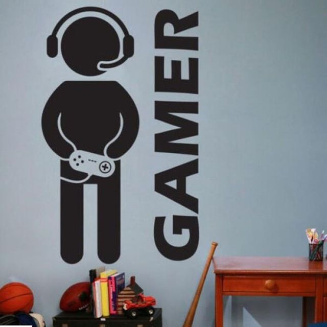 Kertas Poster Power Video Game Gaming Gamer Stiker Dinding Vinyl Seni Lukisan Dinding