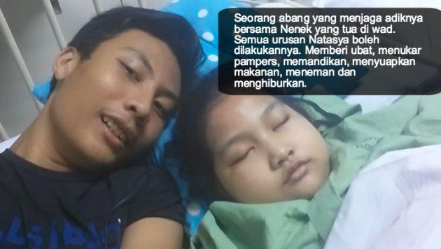 berhenti sekolah untuk jaga adiknya menderita kanser otak ini barulah dikatakan cinta till jannah