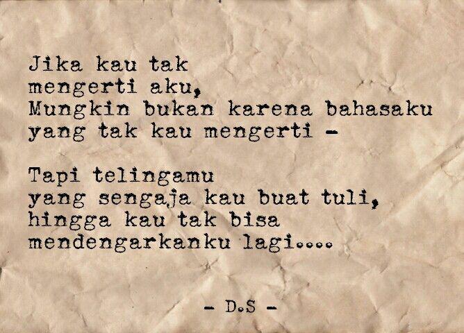 puisi puisi singkat kumpulan puisi puisi cinta indonesia puisi dhee unsent letters pinterest quotes indonesia quotes and puisi indonesia