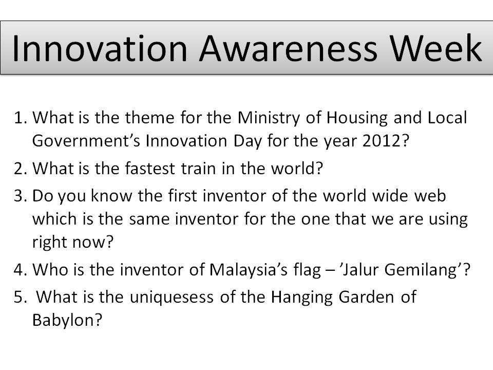 Kuiz Inovasi Terhebat Laman Web Rasmi Jabatan Perancangan Bandar Dan Desa