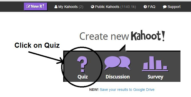 it is very easy to create the quiz just login to https create kahoot it you can also create discussion or survey as shown below