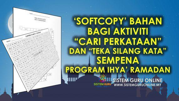 Kuiz Ramadhan Meletup softcopy Bahan Bagi Aktiviti Cari Perkataan Dan Teka Silang Kata