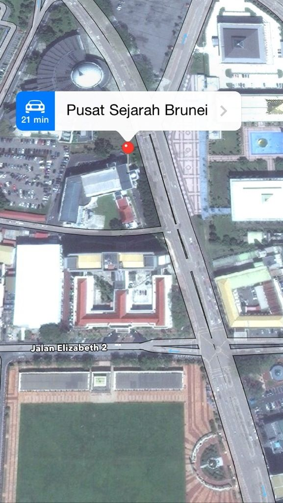 map to pusat sejarah brunei