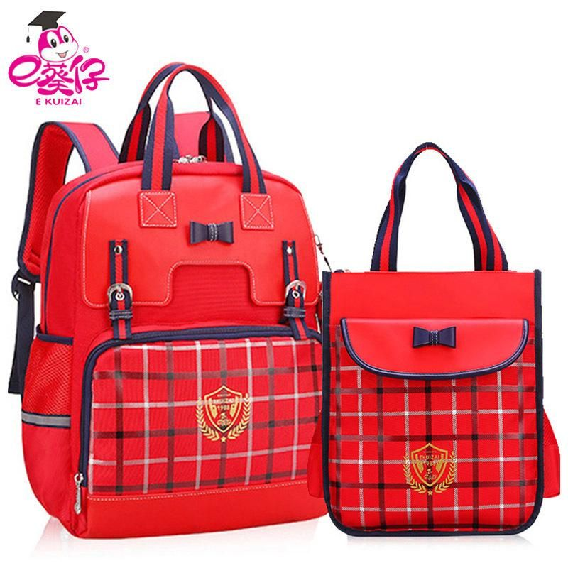 e kuizai new 2018 orthopedics backpack for girls primary students school bags for girls fashion kid bag s914 hand bags leather handbags from ruiqi10