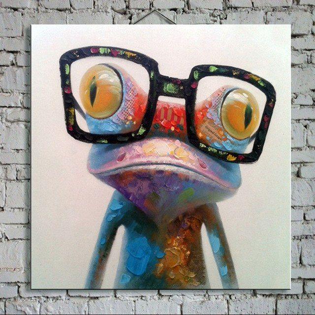 Lukisan 3d Diatas Kertas Power Minyak Lukisan Tangan Dicat Lukisan Cat Minyak Di atas Kanvas Hewan