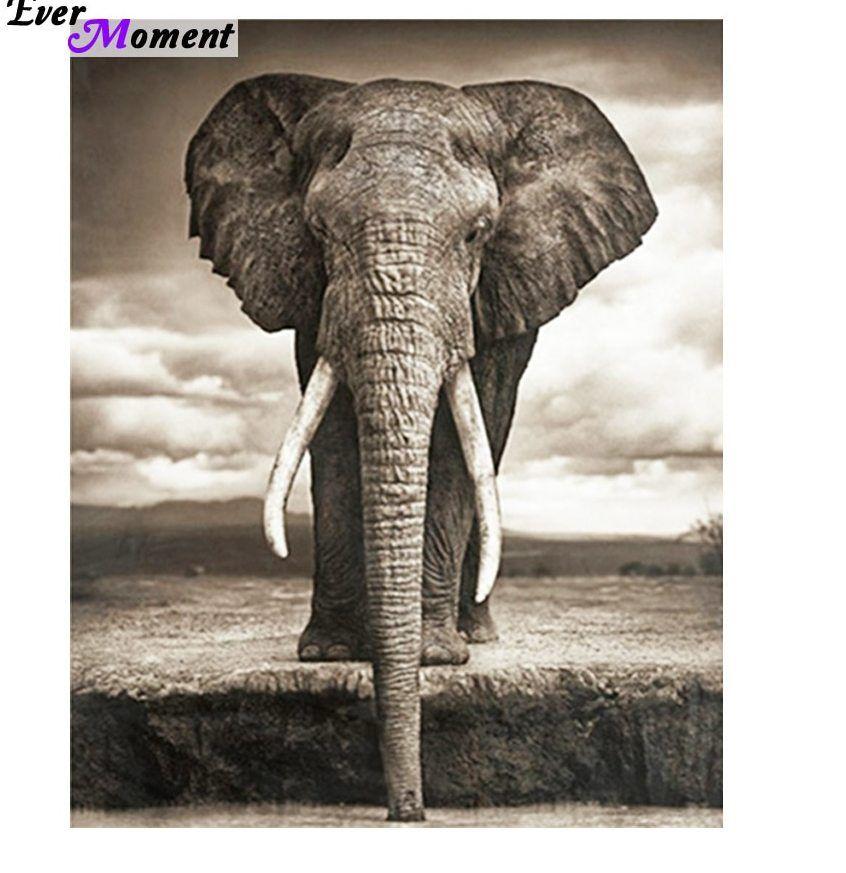 Lukisan 3d Diatas Kertas Terhebat A Gajah Diy Berlian Bordir Set Hewan Lukisan Kerajinan 3d Diy