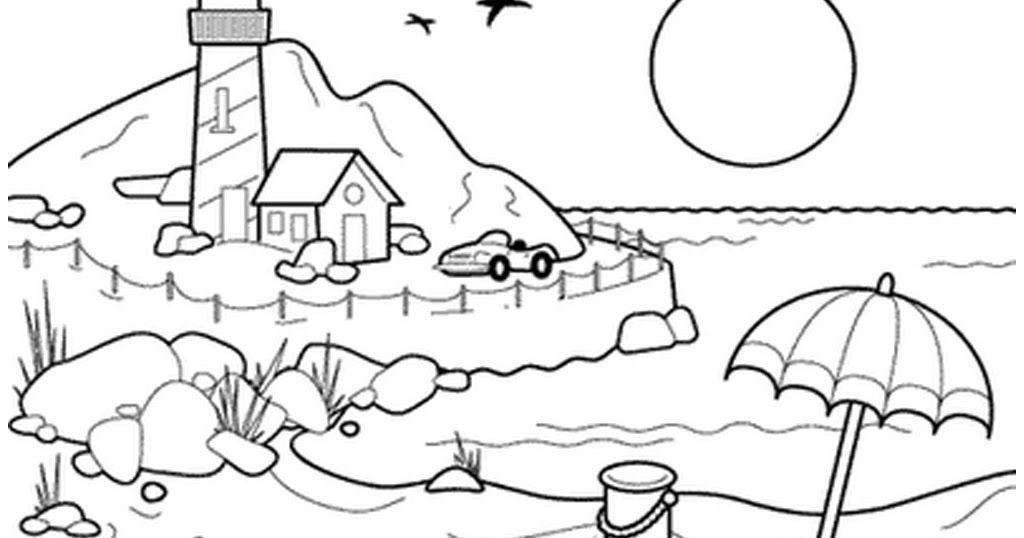 Jom Download Lukisan Mewarna Pemandangan Yang Menarik Dan Boleh Di