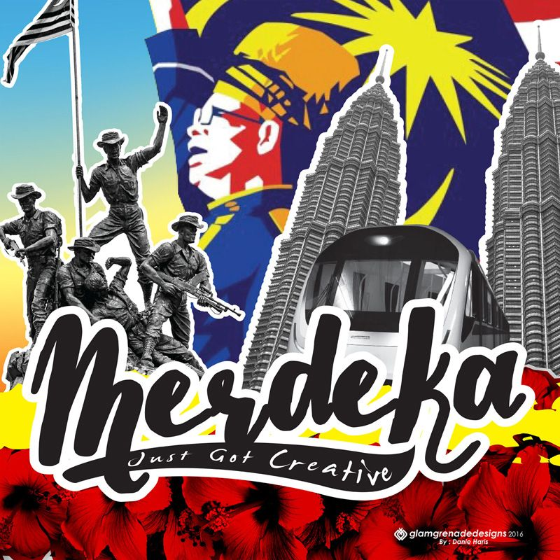Merdeka Poster Hebat Malay Pertandingan Reka Poster Merdeka 2016 Graphic Lab Malaysia