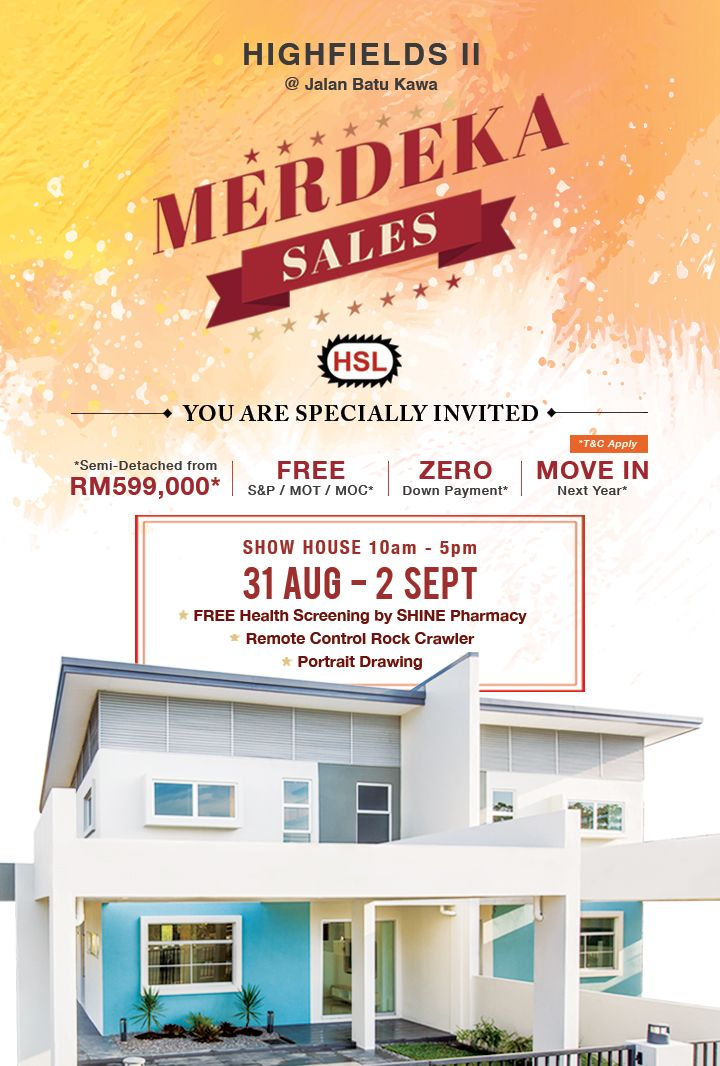 hock seng lee hsl achieved better than expected results at its merdeka sales highfields event with bookings on 60 of its semi detached units on offer