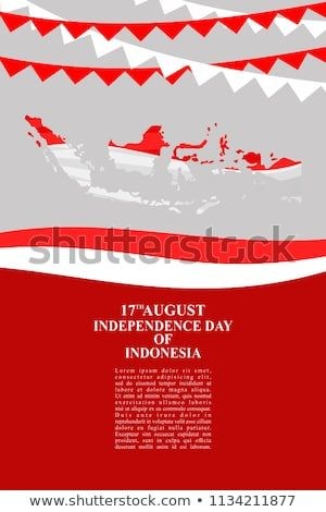 hari kemerdekaan indonesia indonesian independence day vector illustration suitable for greeting card