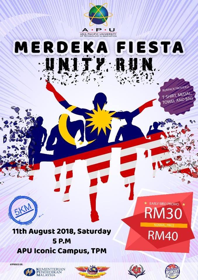 Merdeka Poster Terhebat Runnerific Merdeka Fiesta Unity Run 2018