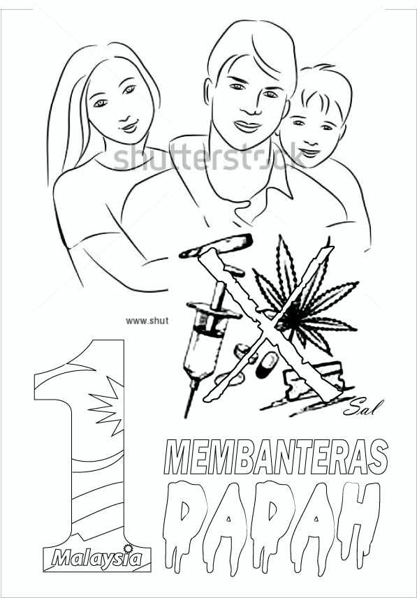 contoh lukisan poster dadah musuh negara www pixshark