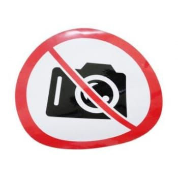 cek harga oem no camera logo dilarang foto potret kantor wall stiker cutting bulan ini
