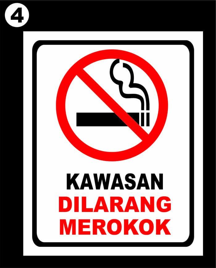 stiker dilarang merokok i