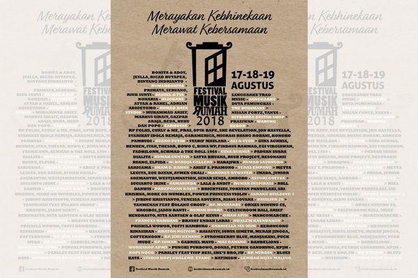 Poster Kebhinekaan Bermanfaat Satu Harapan Festival Musik Rumah 2018 Siap Digelar