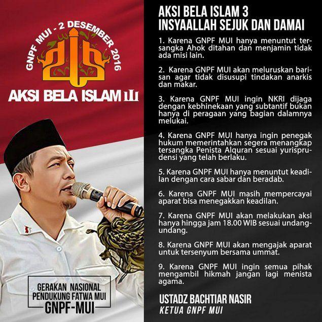 ustadz bachtiar nasir ketua gnpf mui aksi bela islam 3 akan mengajak aparat tersenyum bersama ummat