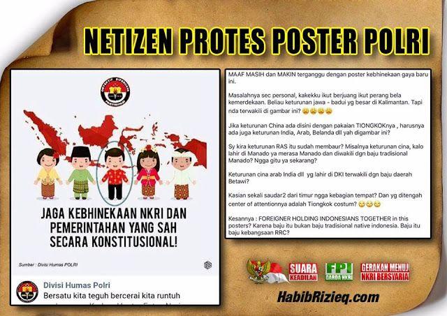 bukannya adat papua poster kebhinekaan polri tampilkan adat china diprotes keras netizen