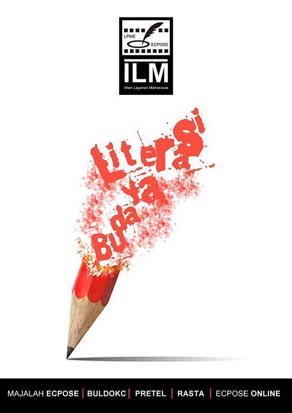 Poster Kebudayaan Bermanfaat Budaya Literasi On Behance Inspiration Pinterest Poster