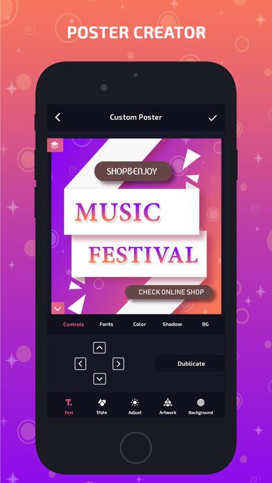 poster creator banner maker app screenshots