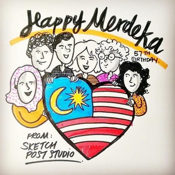 sketch post on twitter selamat hari merdeka fellow malaysians have a wonderful weekend merdeka merdeka57 doodle sketch art i