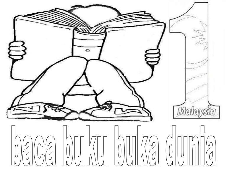 Poster Mewarna Menarik Mewarna Hari Membaca