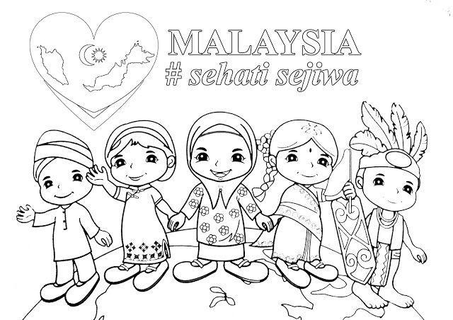 Poster Mewarna Penting Poster Mewarna Malaysia Sehati Sejiwa Art for Everyone In 2018