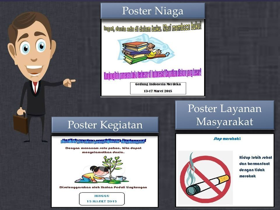 9 poster niaga poster kegiatan poster layanan masyarakat