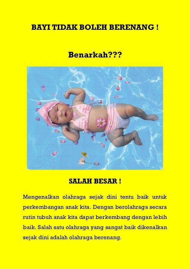 bayi tidak boleh berenang benarkah salah besar mengenalkan olahraga sejak dini