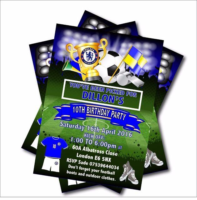 20 pcs lot personalized football sepakbola mengundang undangan ulang tahun baby shower anak laki