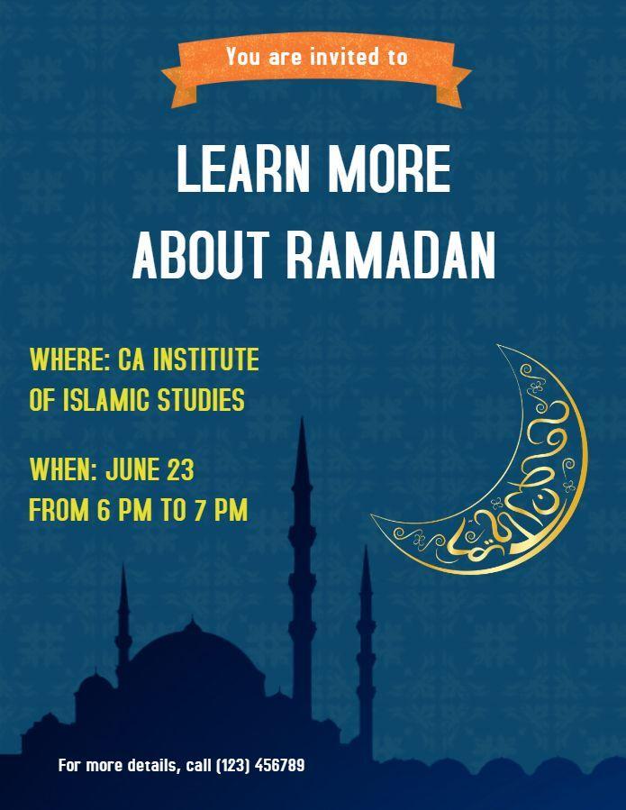 Poster Ramadan Baik Ramadan Seminar event Poster Template at Mosque Ramadan Poster