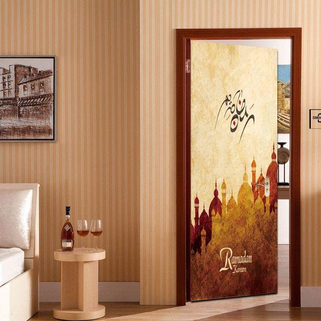 3d ramadan kareem allah arabic art wall sticker wallpaper mural islamic decal calligraphy vinyl stickers wallpaper