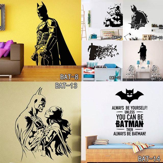 Poster Tema Lingkungan Bernilai Aliexpress Com Beli Batman Super Hero Vinyl Stiker Dinding Seni