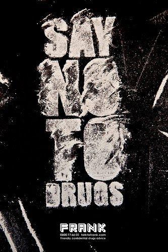 Poster Tema Lingkungan Hebat Salah Satu Poster Anti Narkoba Yang Keren Banget Dengan Tulisan Say