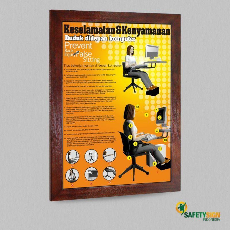 poster k3 keselamatan kenyamanan duduk di depan komputer versi 2