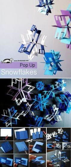 christmas diy pop up snowflakes pop up snowflakes mas