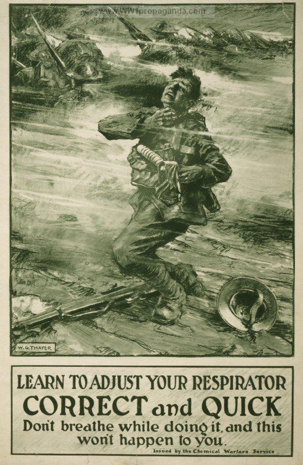 world war one gas mask propaganda