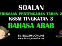 Rpt Bahasa Arab Tingkatan 3 Bernilai soalan Peperiksaan Pertengahan Tahun 2018 Kssm Tingkatan 3