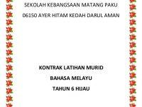 Rpt Bahasa Melayu Tahun 6 Meletup Rancangan Tahunan Pelajaran Bahasa Melayu Tahun 6