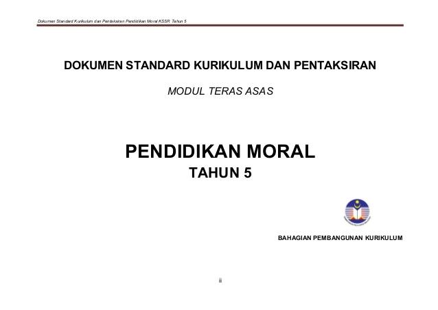 Rpt Pendidikan Moral Tahun 5 Bernilai 1 Dskp Pm Tahun 5 Sk Kssr Baru 2015 Of Jom Dapatkan Rpt Pendidikan Moral Tahun 5 Yang Berguna Khas Untuk Ibubapa Lihat!