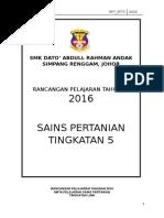Rpt Pertanian Tingkatan 5 Terhebat Rpt Pertanian T5 T4 2018