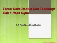 Rpt Reka Bentuk Dan Teknologi Tingkatan 3 Berguna 1 4 Pemilihan Reka Bentuk