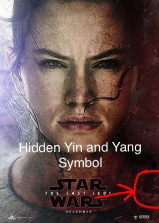 Star Wars the Last Jedi Poster Menarik Hidden Yin and Yang Symbol In the Last Jedi Poster Ben and Rey