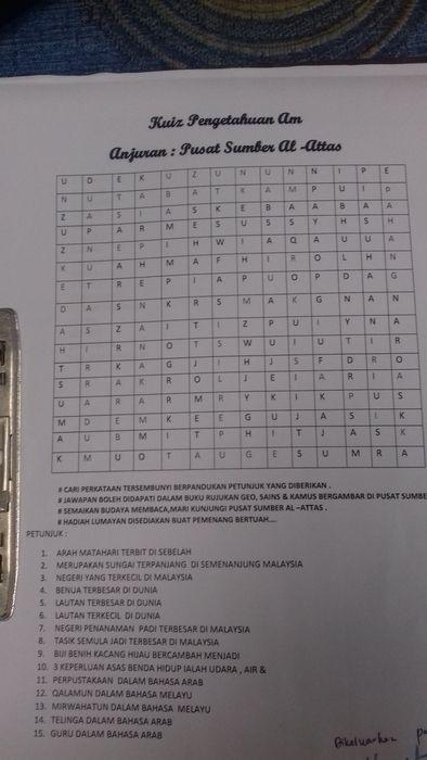 Teka Silang Kata Pengetahuan Am Sekolah Rendah Terbaik Laman Web Rasmi Sekolah Menengah Agama Negeri Pahang