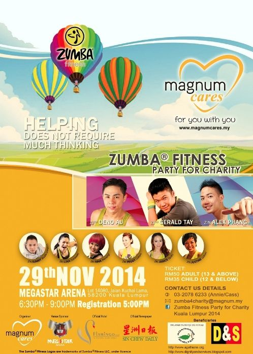 zumba fitness party for charity 2014